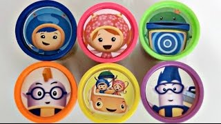 Nick Jr. TEAM UMIZOOMI Learn Colors, Numbers with Playdoh, Toys, Milli, Geo, Bot, Umi Car /TUYC