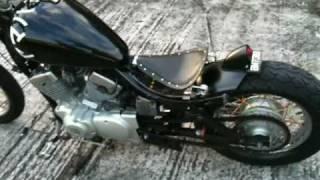 getlinkyoutube.com-Yamaha Virago XV 125 Hardtail Bobber