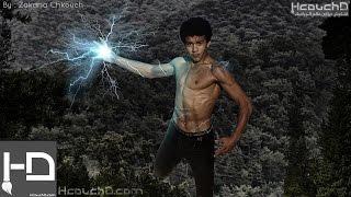 getlinkyoutube.com-Tutorial 85 : How To Make Electric Man Using Photoshop كيفية إنشاء رجل البرق بإستعمال