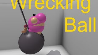 getlinkyoutube.com-Wrecking Ball Roblox Music Video (HALARIOUS)