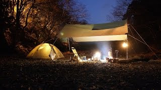 getlinkyoutube.com-タープの下で焚火キャンプ