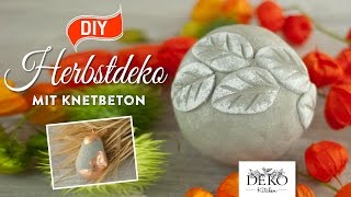 herbstdeko aus beton | download video youtube, youtube hd, youtube, Hause und Garten