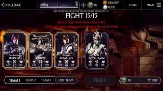 getlinkyoutube.com-Dark Lord KOTAL KAHN - hard boss challenge with minions -mkx mobile- iOS