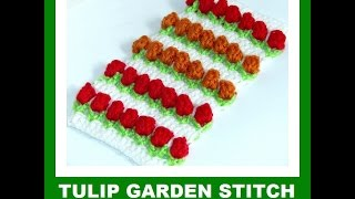 getlinkyoutube.com-Tulip Garden crocheted
