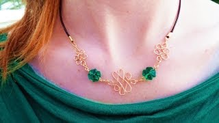 getlinkyoutube.com-DIY Lucky Celtic Wire Knot Necklace | eclecticdesigns