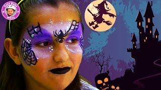 getlinkyoutube.com-schminken als Hexe für Halloween - Kinderschminken tutorial Makeup - Kinderkanal