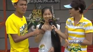 getlinkyoutube.com-Long hair girl Chen Xia play game in Hunan TV station