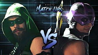 getlinkyoutube.com-Green Arrow Vs Hawkeye   Minute Match-Ups - Episode 2
