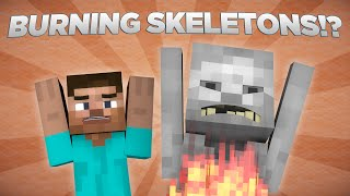 getlinkyoutube.com-Why Skeletons Burn In Daylight - Minecraft