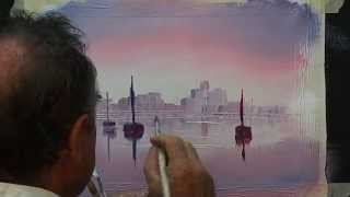 getlinkyoutube.com-How to paint a simple boat scene with reflections