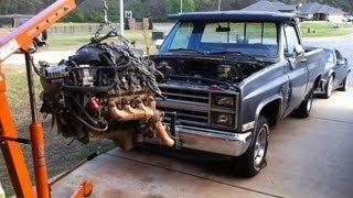 getlinkyoutube.com-84 Chevy C10 LSx 5.3 swap with Z06 Cam - Parts Needed Shown - Truck LS1