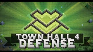 getlinkyoutube.com-Clash Of Clans | Town Hall 4 Farming Defense Base + Defense Replays !