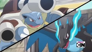 getlinkyoutube.com-Pokemon XY Special - Mega Blastoise vs. Mega Charizard X - Full Fight HD