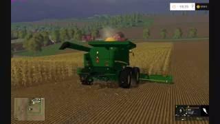 getlinkyoutube.com-Farming Simulator 2015:  John Deere Corn Harvest HD