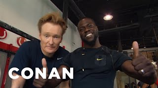 getlinkyoutube.com-Conan Hits The Gym With Kevin Hart  - CONAN on TBS