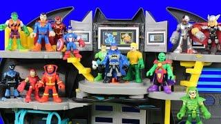 getlinkyoutube.com-Imaginext Justice League Holds Tryouts Injustice League Joker Bane Battles Batman