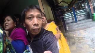 A lady in yellow sari - Nepal Earthquake 2015