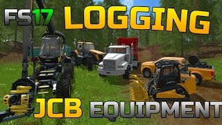 getlinkyoutube.com-FARMING SIMULATOR 2017 | LOGGING EQUIPMENT | PRODUCING WOOD CHIPS | JCB