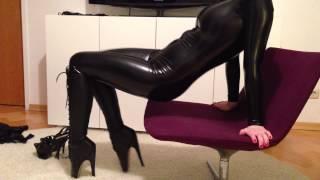 getlinkyoutube.com-Mask, Catsuit, Ballet Boots & Corset