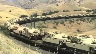 Tehachapi Pass-Military Tank Train