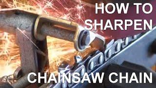 getlinkyoutube.com-Chainsaw Slabber Chain Sharpening - Peterson Portable Sawmills