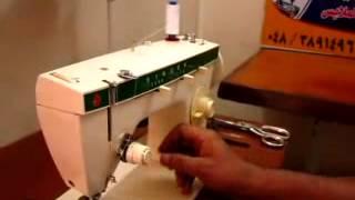 طريقة لضم ماكينة خياطة سنجر زجزاجية