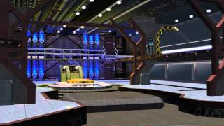 Spaceship Hangar Video Background Set with Sound A