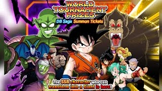 CAN WE PULL THESE SSRs?!?! World Tournament Prize Dragon Ball Saga Summons! DBZ Dokkan Battle