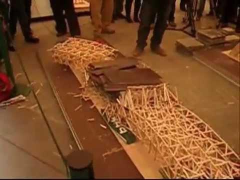 VIII concurso de maquetas de puentes Ingenieros Bilbao 2008