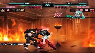 getlinkyoutube.com-MUGEN - Clone Team Vs Orochi Kyo&Iori Team