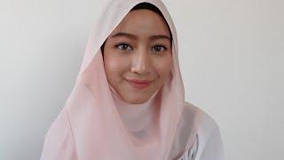 getlinkyoutube.com-DAT SWEET GIRL SIMPLE LOOK || MAKEUP & SHAWL TUTORIAL