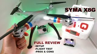 getlinkyoutube.com-SYMA X8G Review - HD Quadcopter Camera Drone - [Setup - Flight Test - Pros & Cons]
