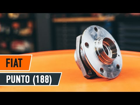 How to replace rear wheel bearing FIAT PUNTO TUTORIAL | AUTODOC