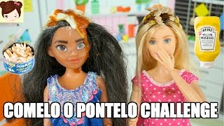getlinkyoutube.com-Barbie vs Disney Moana Reto Comelo o Pontelo Challenge - El Show de Chelsea