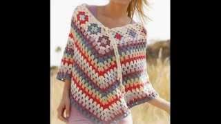 getlinkyoutube.com-Ponchos Tejidos a Crochet - IMAGENES