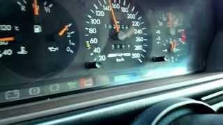 getlinkyoutube.com-Mercedes W124 E60 AMG auf Deutschen Autobahn
