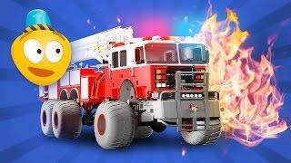 getlinkyoutube.com-Fire Brigade's Monster Trucks - Cartoon for kids about Emergency Monster Fire Truck | New Episode 3