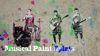 Musical Paint Splats