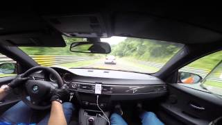 getlinkyoutube.com-BMW M3 GTS VS BMW M5 F10 Ring Taxi Nürburgring Nordschleife with external mic + Harrys Laptimer