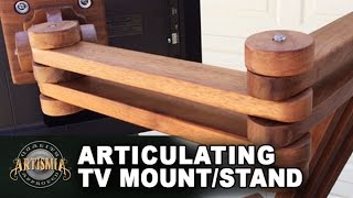 getlinkyoutube.com-DIY Articulating TV Mount/Stand ~ Artismia Wood Working