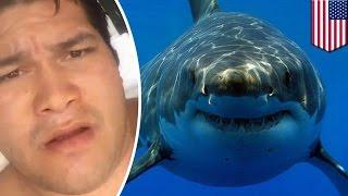 getlinkyoutube.com-한 남성이 상어에게 물리고 가장 처음 한 일, 셀카놀이!