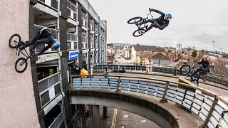 getlinkyoutube.com-Sebastian Keep Redefines BMX with MASSIVE Bridge Gaps-To-Wallrides | Walls