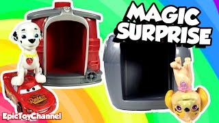 getlinkyoutube.com-Paw Patrol Marshall & Skye Magical Surprise Pup House + Disney Cars Toy Shopkins & Surprise Toys
