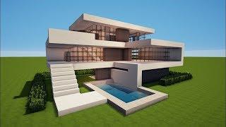 getlinkyoutube.com-Minecraft: How to Build a Modern House #18 - Best House Tutorial 2016