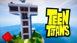 getlinkyoutube.com-MINECRAFT: Teen Titans Redstone Tower (w/ 30+ REDSTONE CREATIONS)