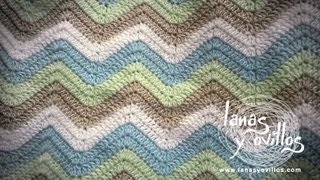 getlinkyoutube.com-Tutorial Manta Zig Zag a Crochet o Ganchillo Paso a Paso en Español