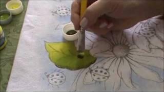 getlinkyoutube.com-Pintura em Tecido para Iniciantes Flores e Folhas Parte I.wmv