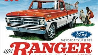 Moebius 1/25 1971 Ford F100 Ranger XLT Pickup Model Kit Review