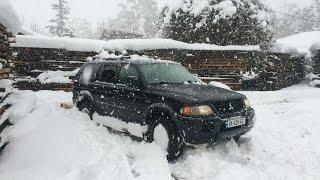 getlinkyoutube.com-Extreme Deep Snow Off Road 4x4 ~ Mitsubishi Montero Sport/Georgia - 2016