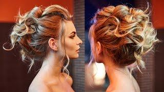 getlinkyoutube.com-Air texture of curls. Wedding Updo